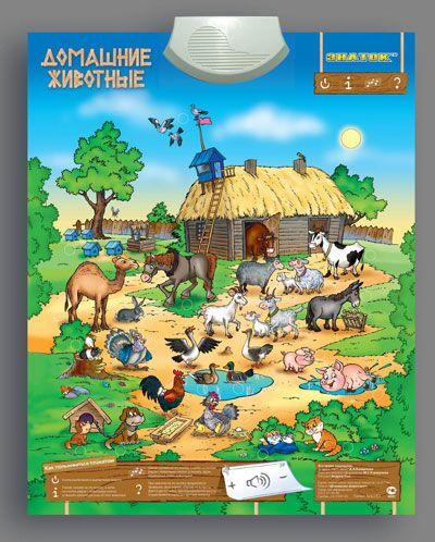 Картинка Электронный плакат Домашние животные