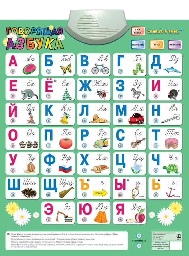 Картинка Электронный плакат Говорящая АЗБУКА 4 режима