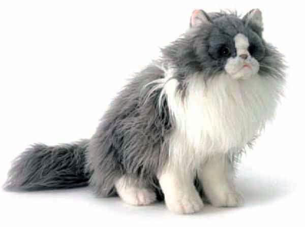 Персидская кошка серо белая 38см