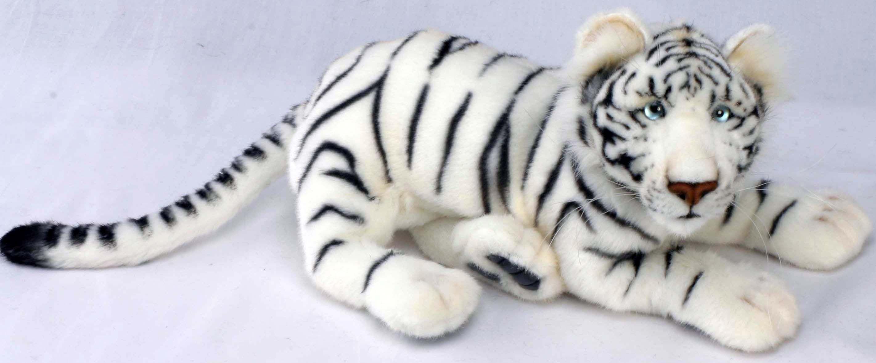 Тигр белый мягкая игрушка