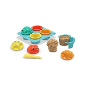 Картинка - Seaside Sidekicks Sand Cupcake Set Melissa and Doug 6431 Песочные формы для кексиков