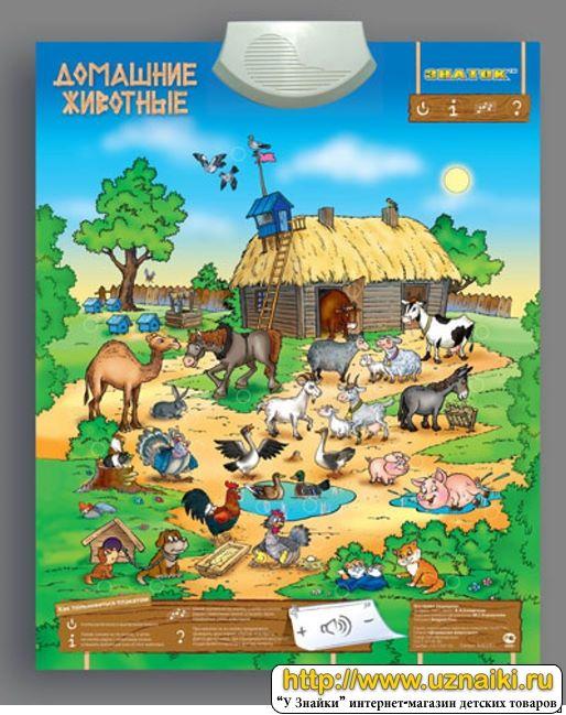 Плакаты для детей домашние животные