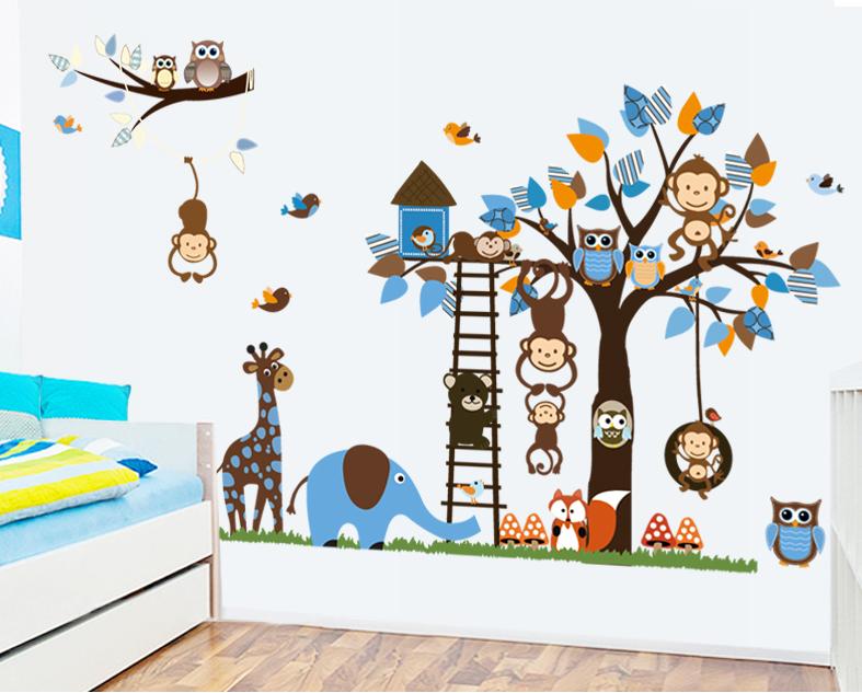 Наклейки на стену в детскую и не только